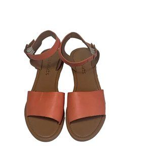 Coconuts Women Strappy Flat Sandal Leather Size 10